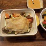 グラタン皿を使って切りながら食べる鶏もも肉のステーキの味噌味を作ってみました