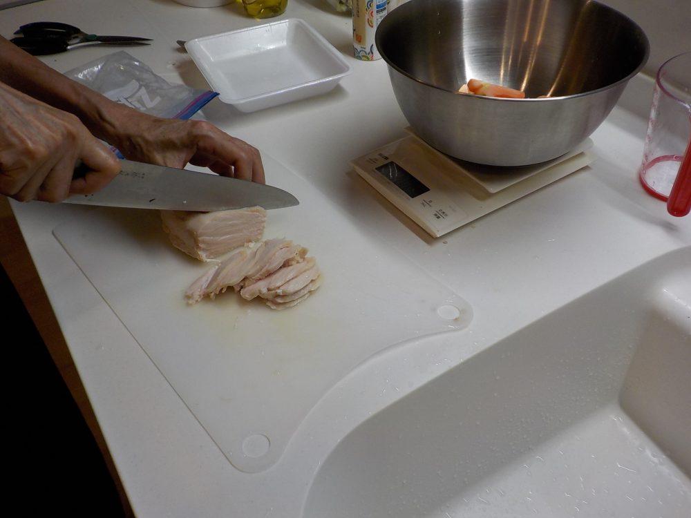 食材の切り方指導