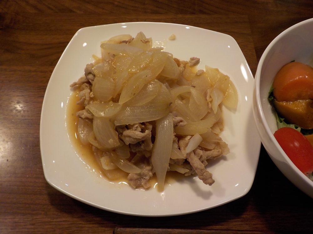 ホットクックで後から味付け豚の生姜焼きは玉ねぎが多すぎた